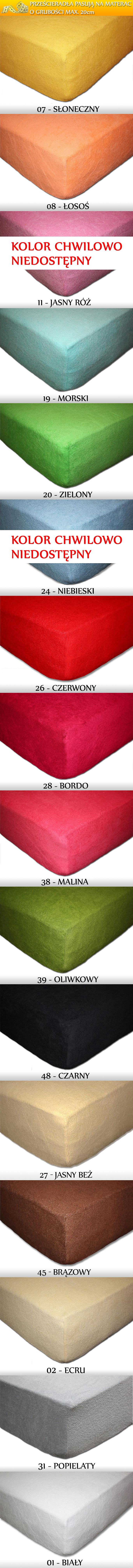 Kolory Frotte Gramatura: 200g/m2