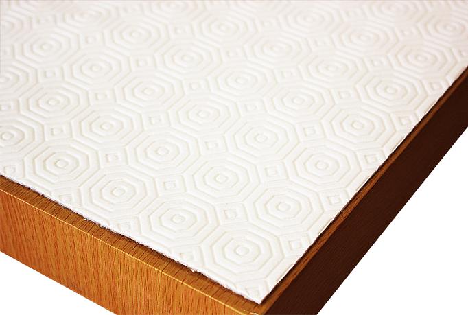 Tischdeckenunterlage Tischschoner Tischpolster Schutzunterlage 250 x 100 cm Weiß